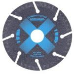 Segmented diamond cutting blade