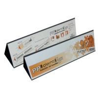 Horizontal Folded Poly Sign Holder Double Sided Display A297
