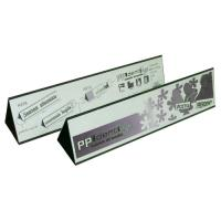 Horizontal Folded Poly Sign Holder Double Sided Display A375