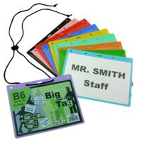 Landscape Plastic Name Badges with Lanyards B6 B601
