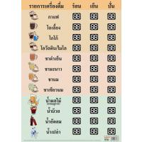 Polypropylene PP Drink Price List Poster EP353