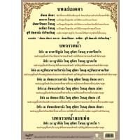 Buddhist Daily Chanting Transference of Merits Poster A4 EP442