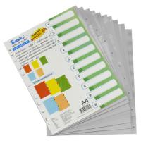 10 Tabs Plastic Index Divider with Numbers A4 DX843