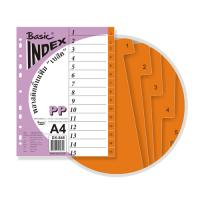 15 Tabs Plastic Index Divider with Numbers A4 DX848