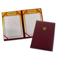 Speech Holder with Synthetic Leather Covers and Official Emblem Printed A4