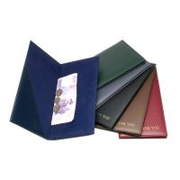 Bill Holder with Synthetic Leather Cover Velvet Inside and Thank you Printed