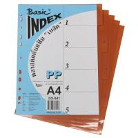 5 Tabs Plastic Index Divider with Numbers A4 DX841