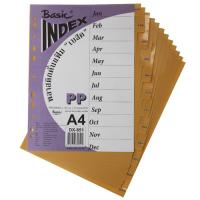 12 Tabs Plastic Index Divider with Monthly A4 DX851