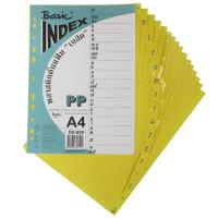 16 Tabs Plastic Index Divider with Thai Alphabetical A4 DX859