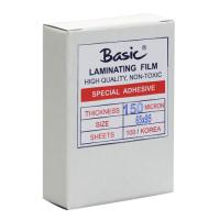 Clear Laminating Pouches BASIC 150micron 65x95mm.