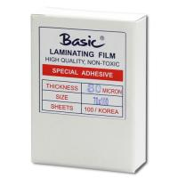Clear Laminating Pouches BASIC 80micron 70x100mm.