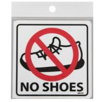 Plastic Signs Take Off Shoes SSR070