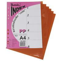 6 Tabs Plastic Index Divider with Numbers A4 DX842