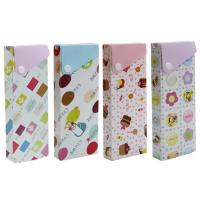 Polypropylene PP Stationery Case with button closure BX540