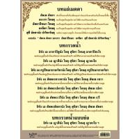 Buddhist Daily Chanting Transference of Merits Paper Poster EQ042