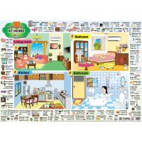 English Vocabulary 'At Home' Educational Posters EP249