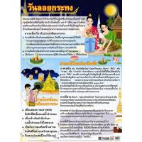 Thai Loy Krathong Festival Educational Paper Posters EQ232