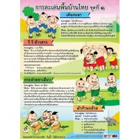 Traditional Thai Children Games Educational Posters EP314