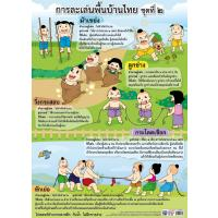 Traditional Thai Children Games Educational Posters EP315