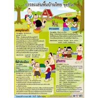 Traditional Thai Children Games Educational Posters EP316