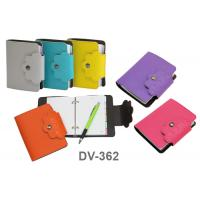 Ring Binding Handy Notebook with Synthetic Leather Cover DV362