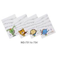 Glue Binding Music Notebook with PP Cover B5 NG751-4