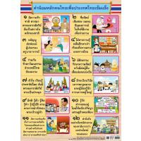 The Core Values of the Thai people Paper Posters EQ344