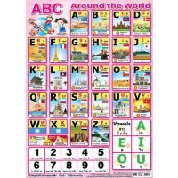 English Alphabet Educational Posters ABC Around The World EP341