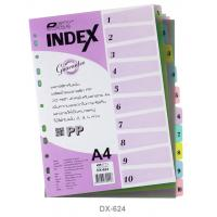 10 Tabs Plastic Index Divider with Numbers A4 DX624