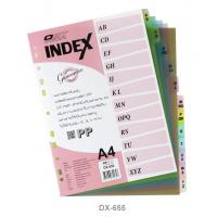 12 Tabs Plastic Index Divider with Alphabetical A4 DX655
