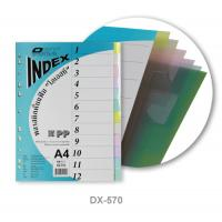 12 Tabs Plastic Index Divider A4 DX570