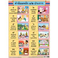 The Core Values of the Thai people Paper Posters EQ369