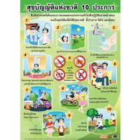 10 Regulations for Good Health Paper Posters EQ177