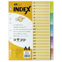 20 Tabs Plastic Index Divider A4 DX656