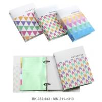 Ring Binder Notebook with PP Cover and 6 Tab Plastic Divider MN311-313