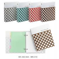 Ring Binder Notebook with PP Cover and 6 Tab Plastic Divider MN310