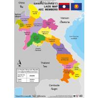Printed Paper Poster LAO Map