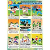 Popular Sports in ASEAN Educational Paper Posters EQ317