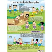Traditional Thai Children Games Educational Paper Posters EQ315