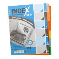 6 Tabs Plastic Index Divider A4 DX711