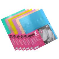 5 Tabs Plastic Index Divider with Numbers A3 DX790