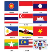 ASEAN Economic Community AEC Flags Posters EP356-367