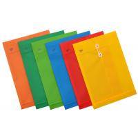 Plastic Envelopes with Button and String Closure F4 663F