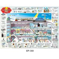 English Vocabulary 'At The Airport' Educational Posters EP388