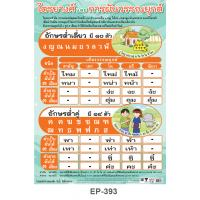 Classes Of Thai Consonants and Tone Marks -low class consonants Educational Posters EP393