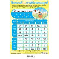 Classes Of Thai Consonants and Tone Marks -middle class consonants Educational Posters EP392