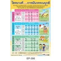 Three Classes Of Thai Consonants and Tone Marks Educational Posters EP390
