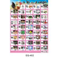 Thai Alphabets Educational Paper Posters EQ402
