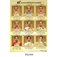 The Nine Kings of the Chakri Dynasty Paper Posters EQ404