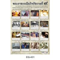Activities of His Majesty King Bhumibol Adulyadej -Religious Project Paper Posters EQ431